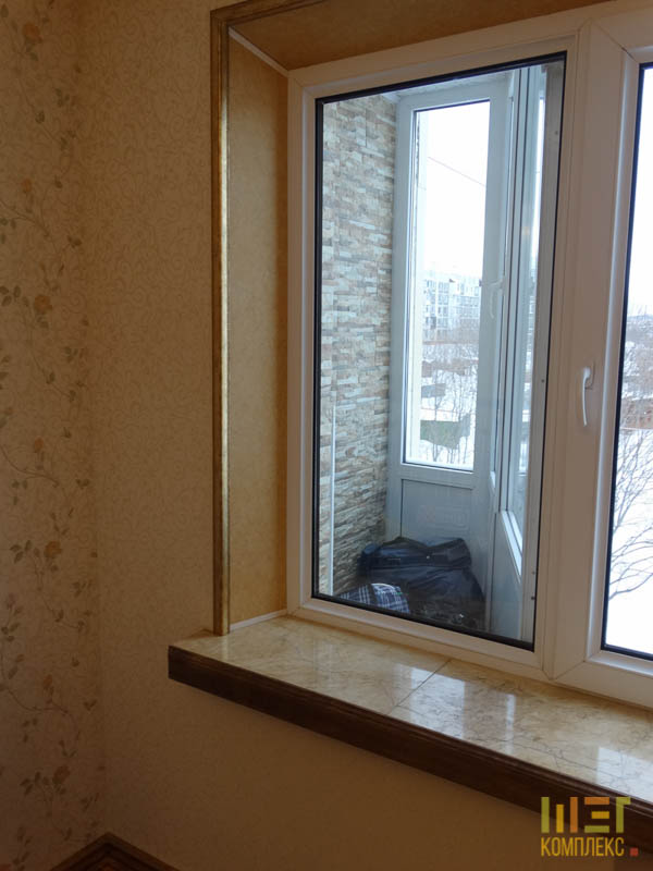 подоконник возле балкона