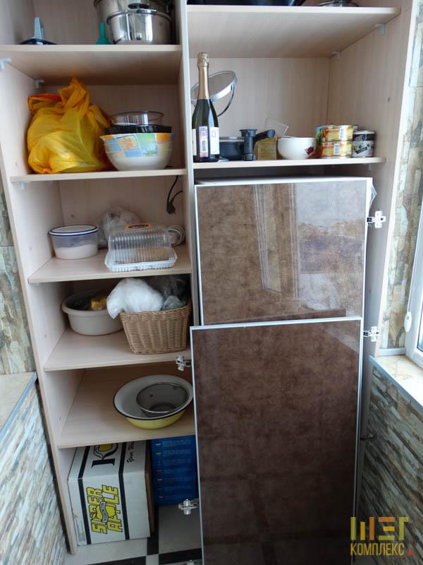 встроенный шкаф с акриловым фасадом