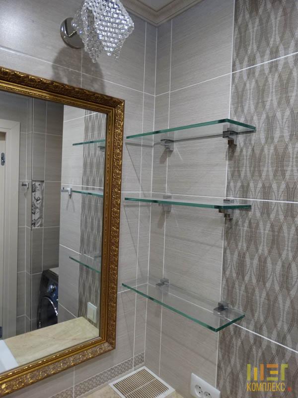 зеркало в багетной золотой раме
